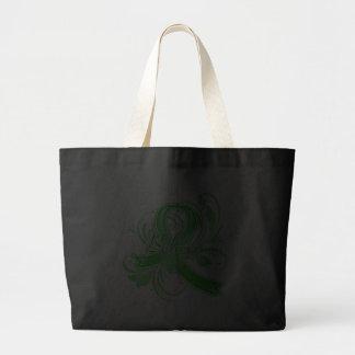 Kidney Disease Believe Flourish Ribbon Canvas Bag