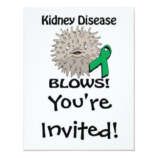 Kidney Disease Blows Awareness Design Invitations