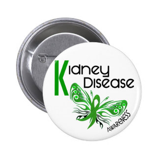 Kidney Disease BUTTERFLY 3.1 2 Inch Round Button