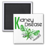 Kidney Disease BUTTERFLY 3.1 2 Inch Square Magnet