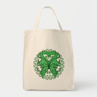Kidney Disease Butterfly Circle of Ribbons Bags