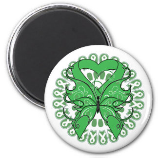 Kidney Disease Butterfly Circle of Ribbons Fridge Magnets