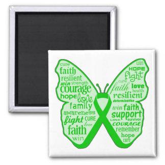 Kidney Disease Butterfly Ribbon Fridge Magnet