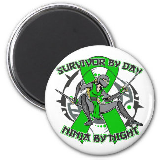 Kidney Disease By Day Ninja By Night 2.png 2 Inch Round Magnet