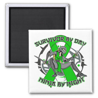 Kidney Disease By Day Ninja By Night 2.png 2 Inch Square Magnet