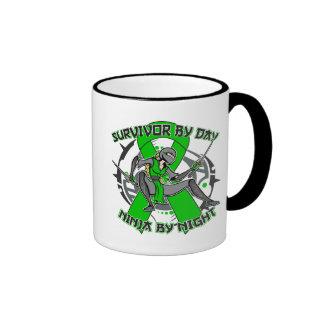 Kidney Disease By Day Ninja By Night 2.png Ringer Coffee Mug