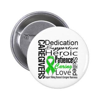 Kidney Disease Caregivers Collage Pinback Button