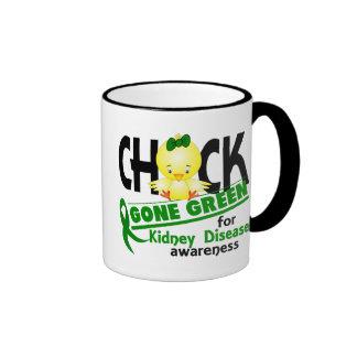 Kidney Disease Chick Gone Green 2 Ringer Coffee Mug