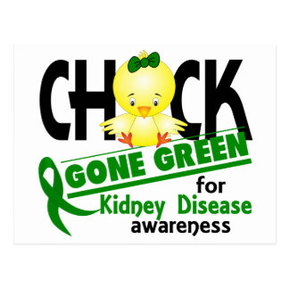 Kidney Disease Chick Gone Green 2 Postcard