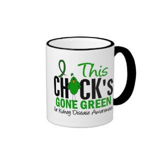 KIDNEY DISEASE Chick Gone Green Ringer Coffee Mug