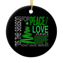 Kidney Disease Christmas 1 Ornaments
