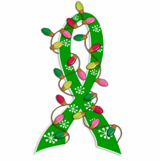 Kidney Disease Christmas Lights Ribbon Photo Cut Out