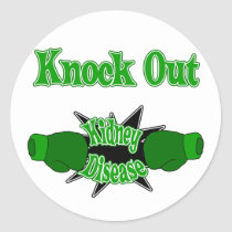 Kidney Disease Classic Round Sticker