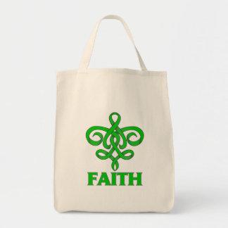 Kidney Disease Faith Fleur de Lis Ribbon Canvas Bags