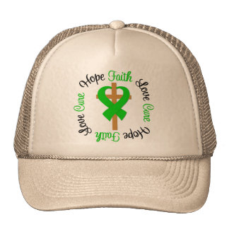 Kidney Disease Faith Hope Love Cross Trucker Hat