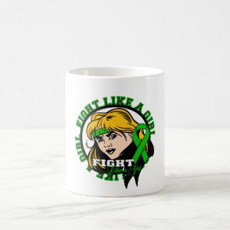 Kidney Disease Fight Like A Girl Attitude Classic White Coffee Mug