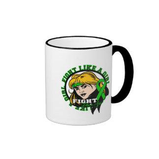 Kidney Disease Fight Like A Girl Attitude Ringer Coffee Mug