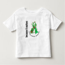 Kidney Disease Flower Ribbon 3 Toddler T-shirt