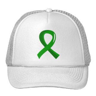 Kidney Disease Green Ribbon 3 Trucker Hat