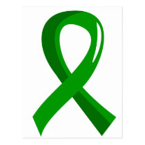 Kidney Disease Green Ribbon 3 Postcard