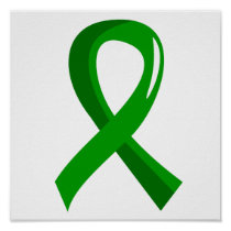 Kidney Disease Green Ribbon 3 Poster