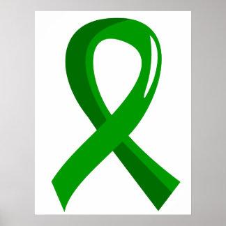 Kidney Disease Green Ribbon 3 Poster