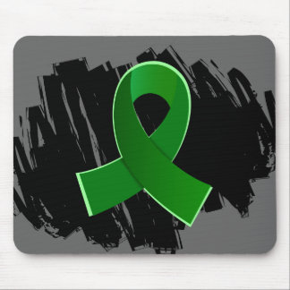 Kidney Disease Green Ribbon With Scribble Mousepad