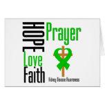 Kidney Disease Hope Love Faith Prayer Cross Card