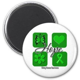 Kidney Disease Hope Love Inspire Awareness Fridge Magnet