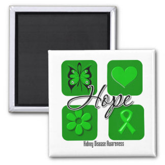 Kidney Disease Hope Love Inspire Awareness Refrigerator Magnets