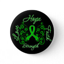 Kidney Disease Hope Motto Butterfly Pinback Button