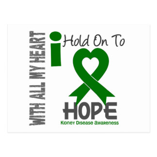 Kidney Disease I Hold On To Hope Postcard