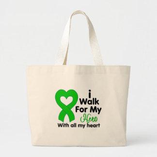 Kidney Disease I Walk For My Hero Tote Bag