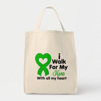 Kidney Disease I Walk For My Hero Tote Bags