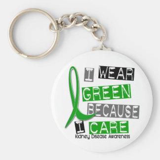 Kidney Disease I Wear Green Because I Care 37 Keychain