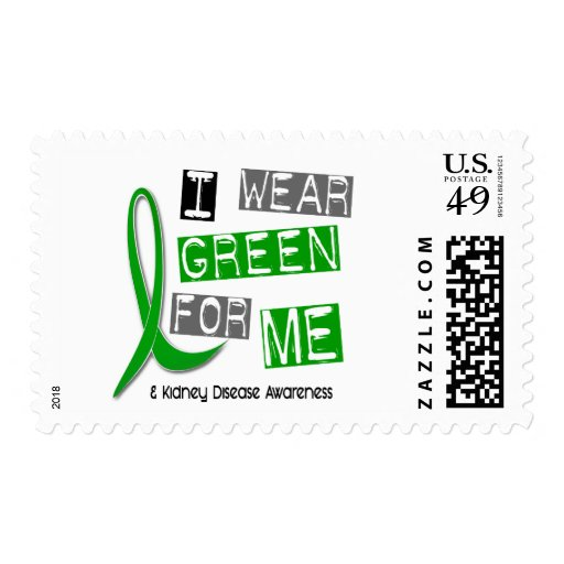 Kidney Disease I Wear Green For ME 37 Postage Stamps
