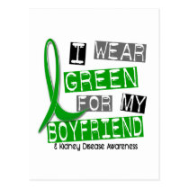 Kidney Disease I Wear Green For My Boyfriend 37 Postcard