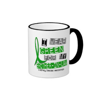 Kidney Disease I Wear Green For My Brother-In-Law Ringer Coffee Mug