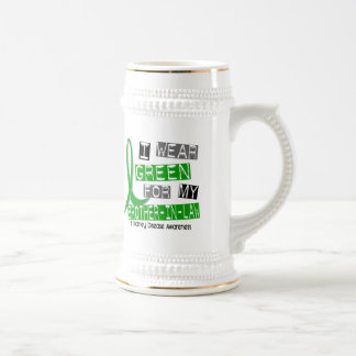 Kidney Disease I Wear Green For My Brother-In-Law 18 Oz Beer Stein