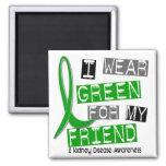Kidney Disease I Wear Green For My Friend 37 Refrigerator Magnet