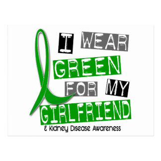 Kidney Disease I Wear Green For My Girlfriend 37 Postcard