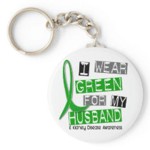 Kidney Disease I Wear Green For My Husband 37 Keychain