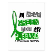 Kidney Disease I Wear Green For My Husband 37 Postcard