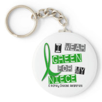 Kidney Disease I Wear Green For My Niece 37 Keychain