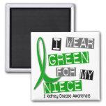 Kidney Disease I Wear Green For My Niece 37 Fridge Magnets