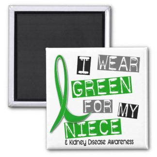 Kidney Disease I Wear Green For My Niece 37 Magnet