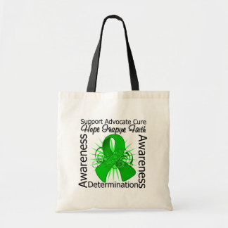 Kidney Disease Inspirations Spiral Ribbon Canvas Bags