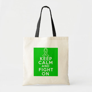 Kidney Disease Keep Calm and Fight On Canvas Bag