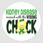 Kidney Disease Messed With The Wrong Chick Stickers