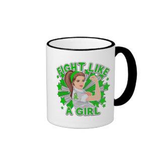 Kidney Disease Modern Rosie Fight Like a Girl Ringer Coffee Mug